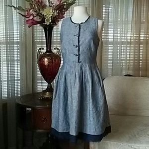 Cynthia Rowley linen chambray like dress